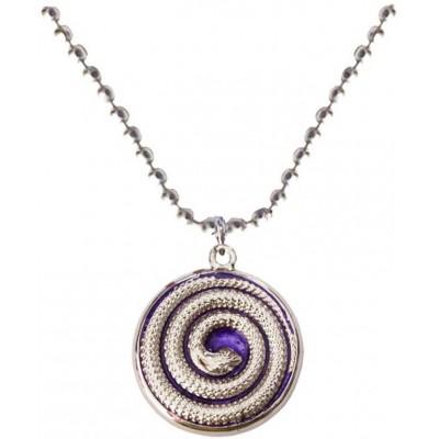 Elegant  Silver::Violet  Round Snake Fashion Pendant