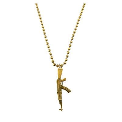 Gold  Gun Inspired Chain Pendant
