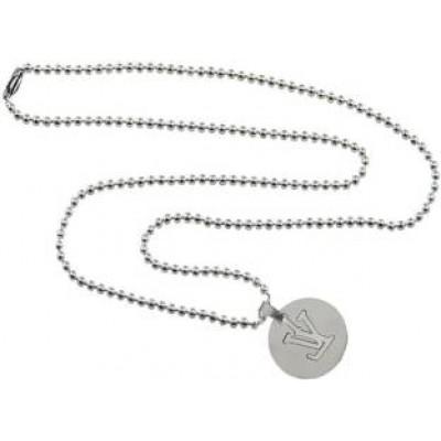 Elegant Silver V - Word In Circle Fashion Pendant