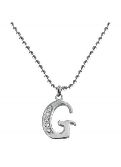 Silver  G- Alphabet Pendant