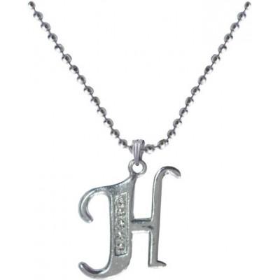 Elegant Silver H- Alphabet Pendant
