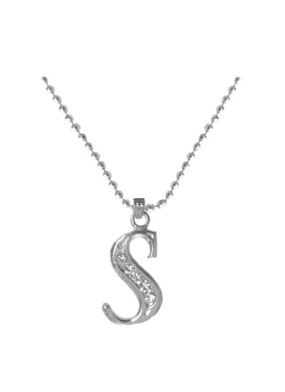 Silver  S- Alphabet Pendant