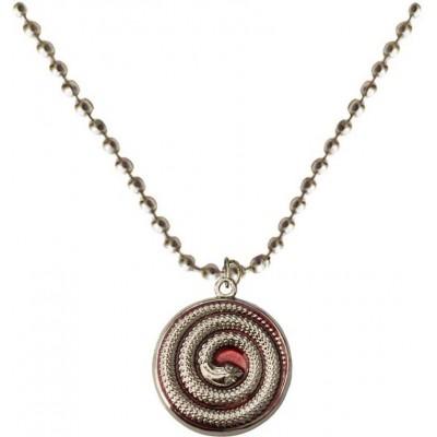 Elegant  Silver::Brown  Round snake Fashion Chain Pendant