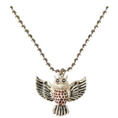 Multicolor Owl Fashion Chain bird Pendant