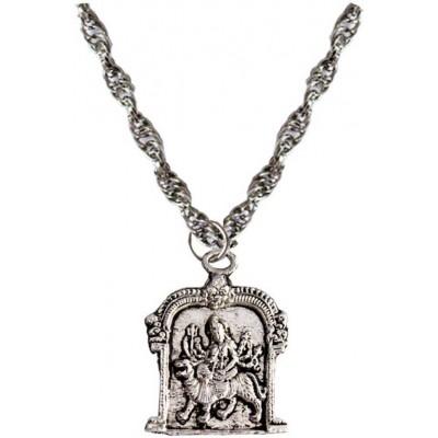 Elegant  Silver  Durgamata Chain Pendant