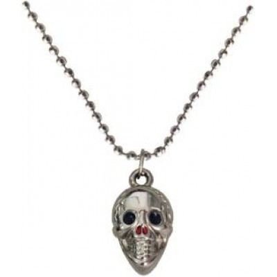 Silver  Skull Fashion Chain Pendant