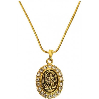 Elegant  Gold  Gold Plated Stone Studded Kaali Mata Pendant