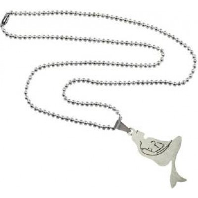 Elegant  Silver   Mesmerizing Mermaid Fashion Chain Pendant