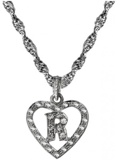 Elegant Silver R-alphabate Fashion Pendant