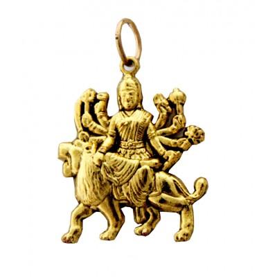 Gold  Durgamata Pendent