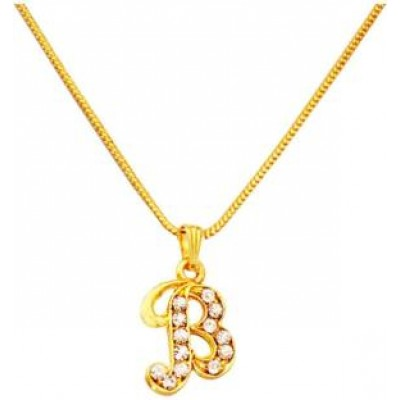 Gold B- Alphabets Pendent