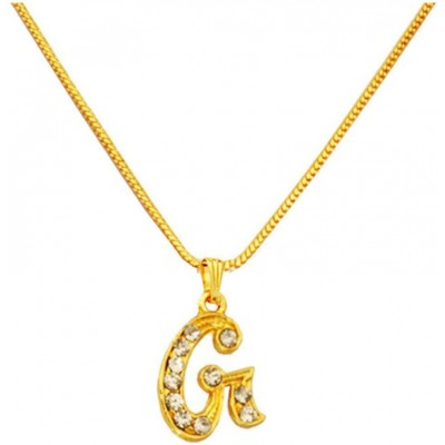 Elegant Gold G- Alphabets Pendent