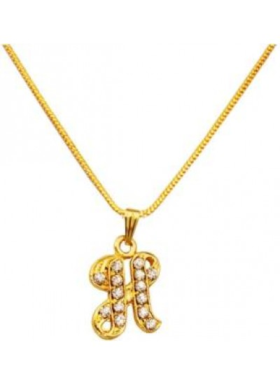Gold  H- Alphabets Pendent