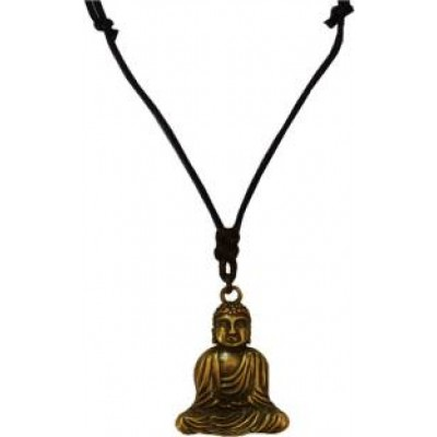 Riligious Mens Jewellery  Black::Brown  Lord Gautam Buddha Pendant