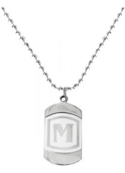Silver M-Alphabet Pendant