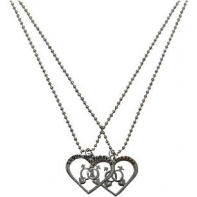 Elegant  Silver  Friendship Day Special Heart Fashion Pendant