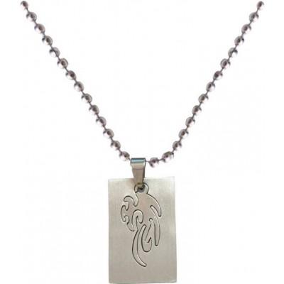 Elegant  Silver  Tribal  Chain Pendant