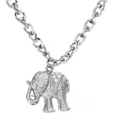 Elegant  Silver  Elephant Fashion Pendant