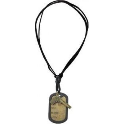Black::Bronze  Name Tag With Gun Fashion Pendant