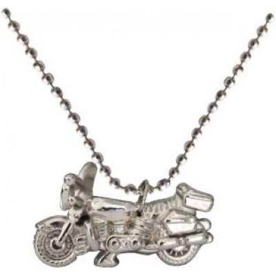 Silver Bike Fashion Chain Pendant