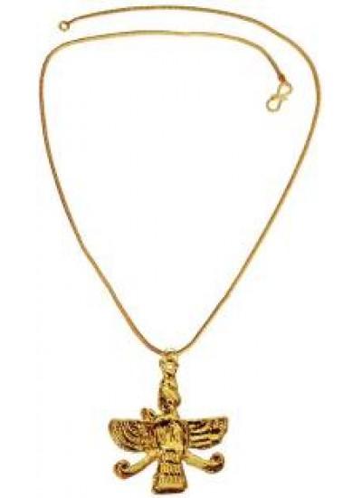 gold  Faravahar Zoroastrian Parsi Farvahar Pendant