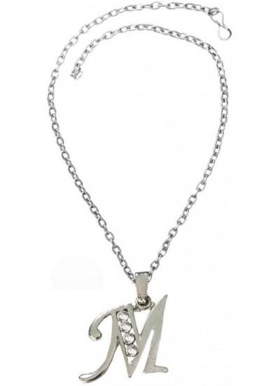 Elegant SIlver M- Alphabet Fashion Pendant