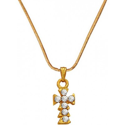 Mens Jewellery  Gold  Jesus Christ Cross Design Pendant