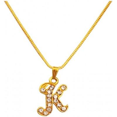 Elegant Gold  K- Alphabets Pendent
