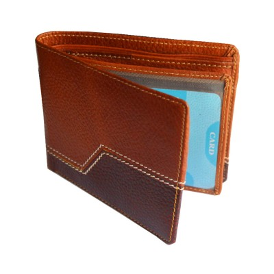 Menjewell Rich & Stylish Multicolor Genuine Leather Wallet For Men (5 Card Slots)