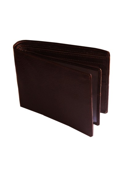 Menjewell Rich & Stylish Brown Genuine Leather Wallet (10 Card Slots)