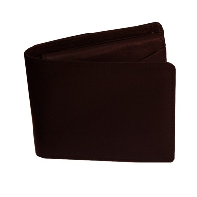 Menjewell Rich & Stylish Brown Genuine Leather Wallet For Men (10 Card Slots)