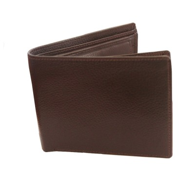 Menjewell Rich & Stylish Brown Genuine Leather Wallet For Men (9 Card Slots)
