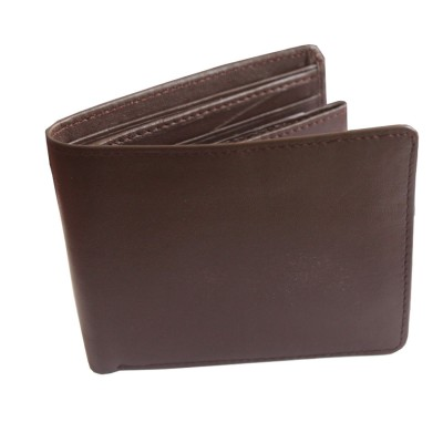 Menjewell Rich & Stylish Brown Genuine Leather Wallet For Men (15 Card Slots)