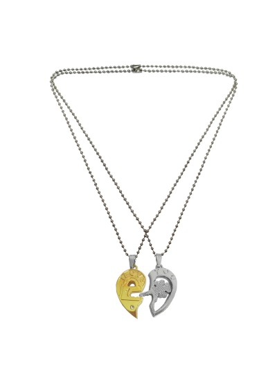 7ac2c88230 Buy Online Couple Love Heart Key Lock Pendant By Menjewell ...
