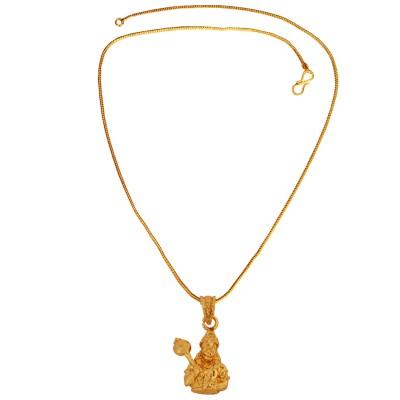 Buy designer fashionable hanuman ji pendants we have a wide range gold plated pawan putra hanuman bajrang bali mini pendant with chain for men boy aloadofball Images