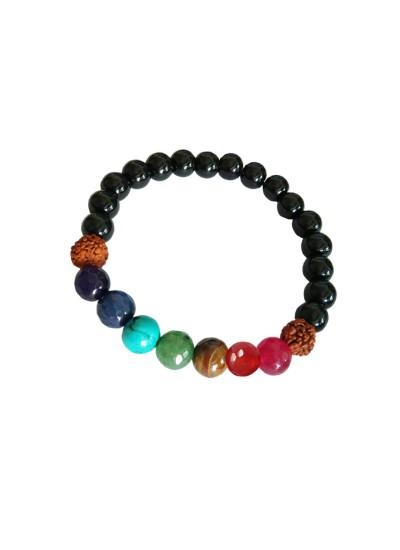 d5f81b321 Buy Online 7 Chakra Kundalini Energy Balance Rudraksha Bracelet ...